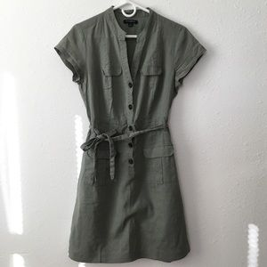 Green Banana Republic Shirt Dress